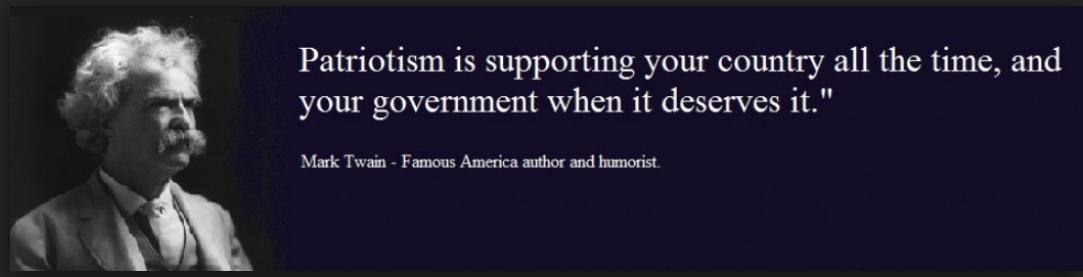 Twain on patriotism